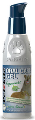 dog peppermint tooth cleaning gel